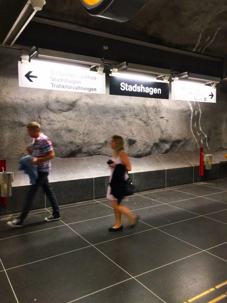 Stockholm Metro ( ストックホルムメトロ ) Stadshagen metro station