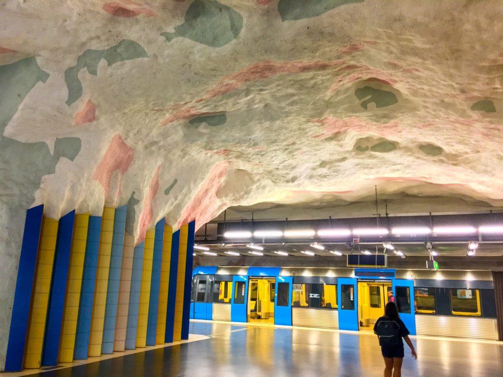 Stockholm Metro ( ストックホルムメトロ ) Mörby centrum metro station
