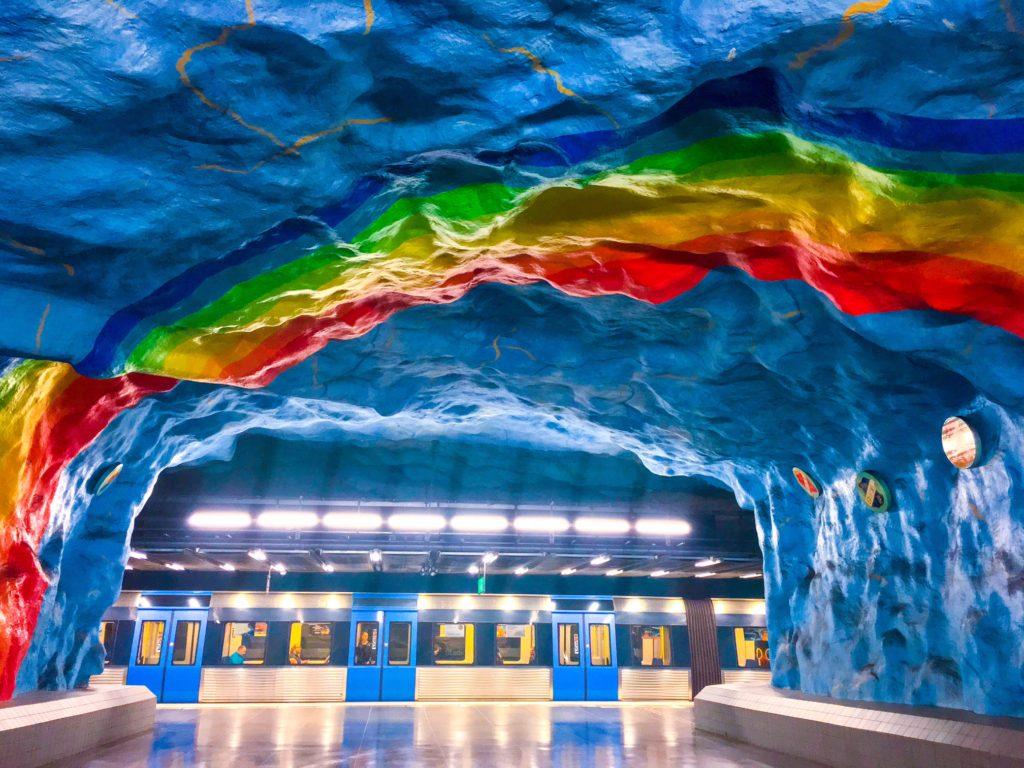 Stockholm Metro ( ストックホルムメトロ ) Stadion metro station