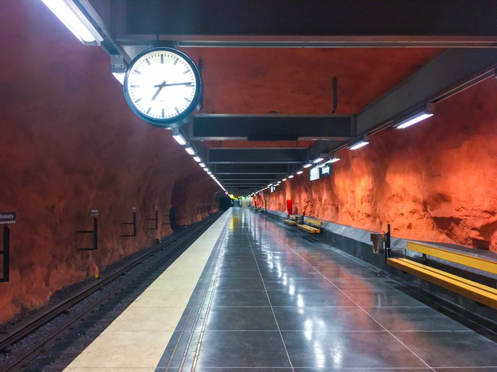 Stockholm Metro ( ストックホルムメトロ ) Rinkeby metro station