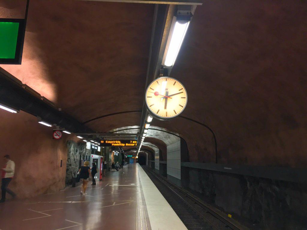Stockholm Metro ( ストックホルムメトロ ) Sundbybergs centrum metro station