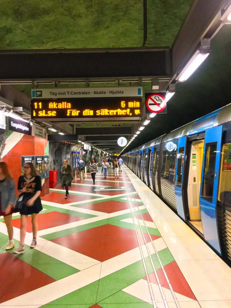 Stockholm Metro ( ストックホルムメトロ ) Kungsträdgården metro station