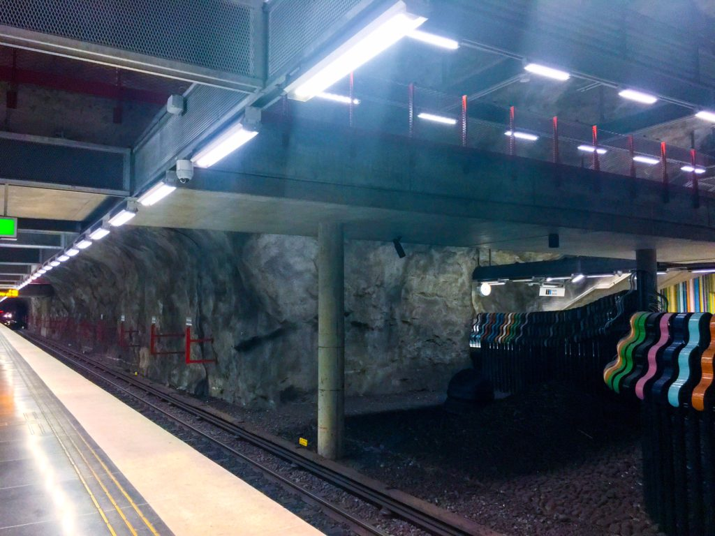 Stockholm Metro ( ストックホルムメトロ ) Västra skogen metro station