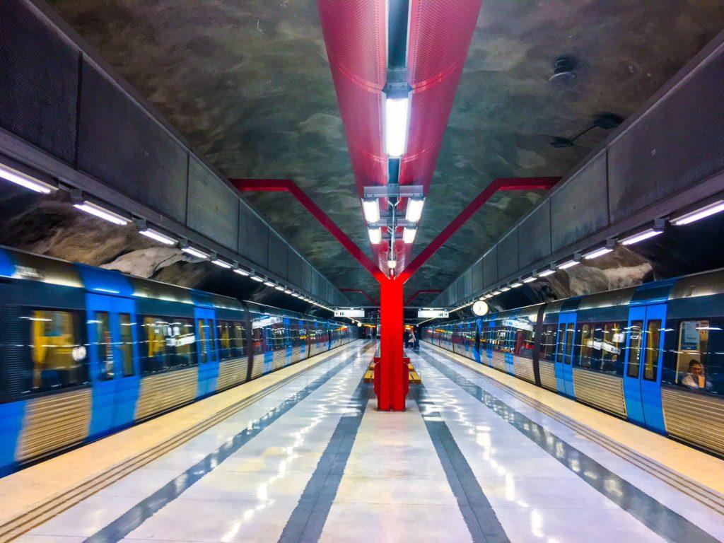 Stockholm Metro ( ストックホルムメトロ ) Duvbo metro station