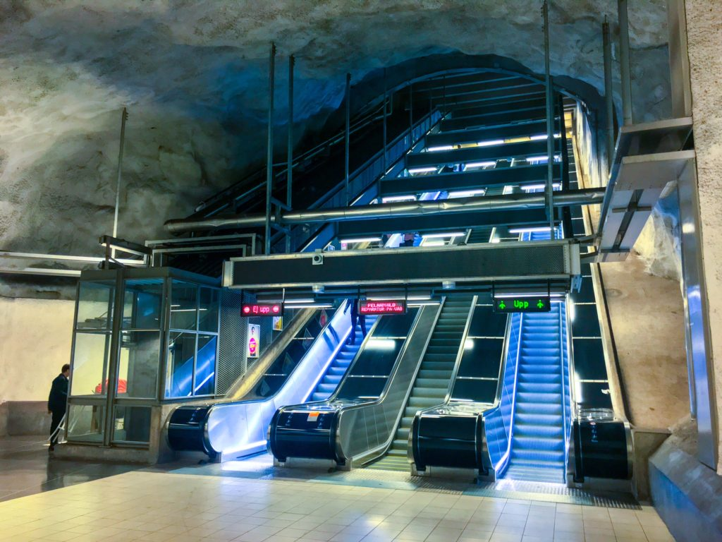Stockholm Metro ( ストックホルムメトロ ) Hjulsta metro station