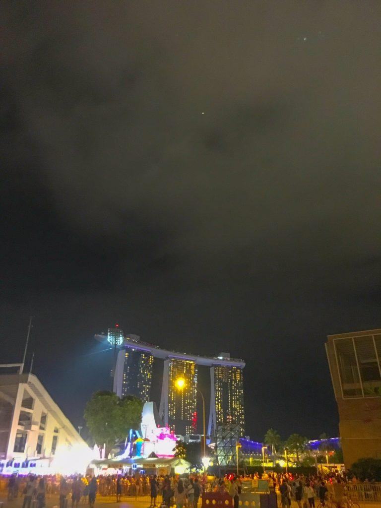 Singapore ( シンガポール ): 夜の中心部